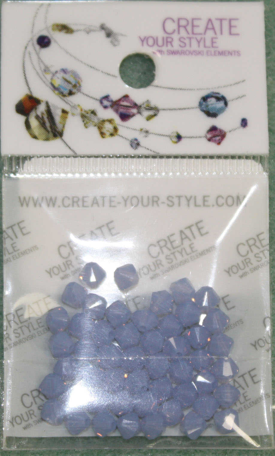 Swarovski Crystal Bicone 4mm Air Blue Opal (285)per 50pcs