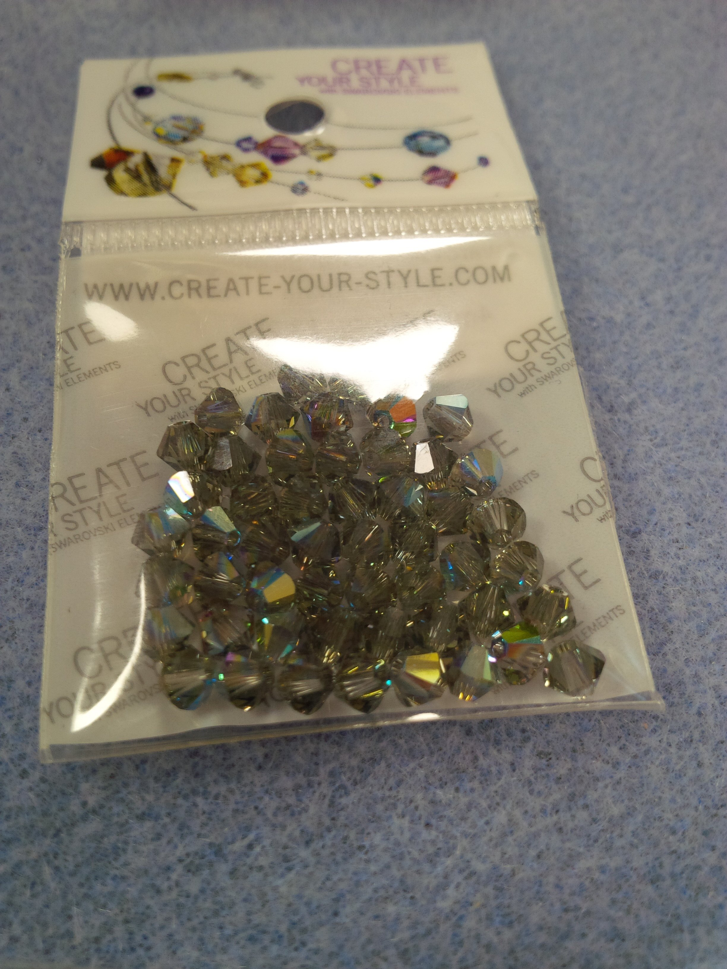 Swarovski Crystal Bicone 4mm Iridescent Green (001 IRIG)per50pcs