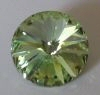 Swarovski 1122 Rivoli 14mm Peridot - Click Image to Close