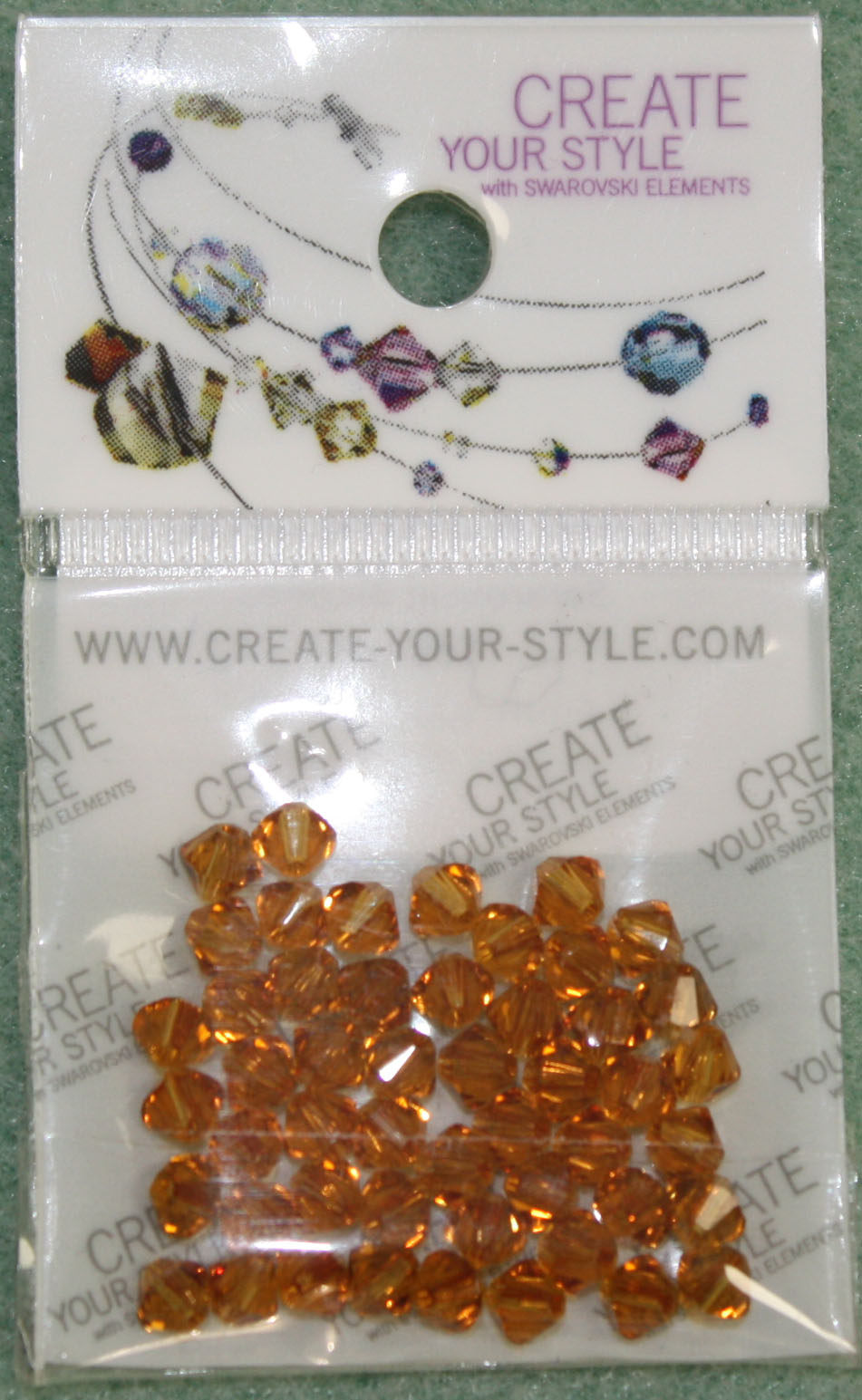 Swarovski Crystal Bicone Topaz (203)per 50pcs 3mm - Click Image to Close
